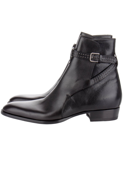 SAINT LAURENT Wyatt 30 Studded Jodhpur Boot