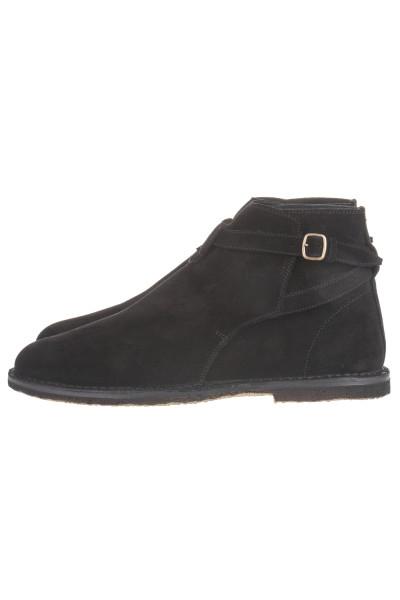SAINT LAURENT Oran Buckle Ankle Boots