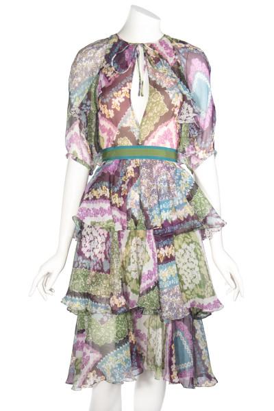 DSQUARED Silk Dress Floral Print