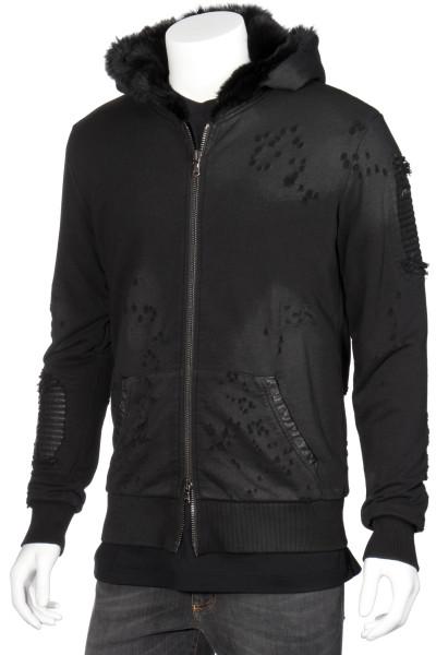 RH45 Zip-Hoodie Black Fur