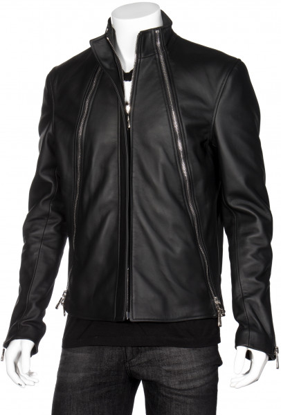 RH45 Leather Jacket Zipper Details