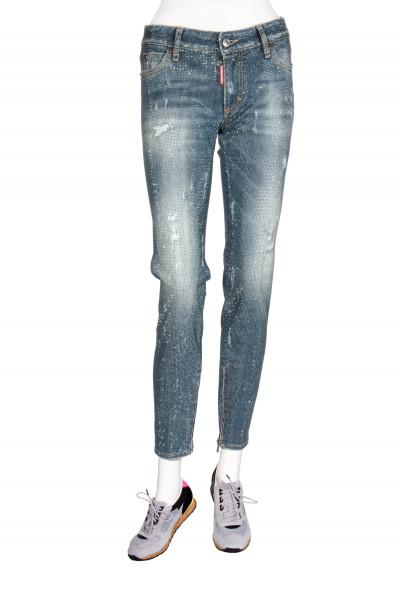 DSQUARED2 Skinny Jean Rhinestones
