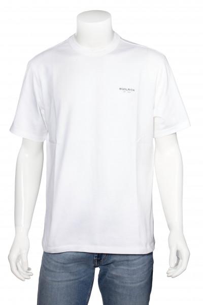 WOOLRICH T-Shirt Cracked Logo
