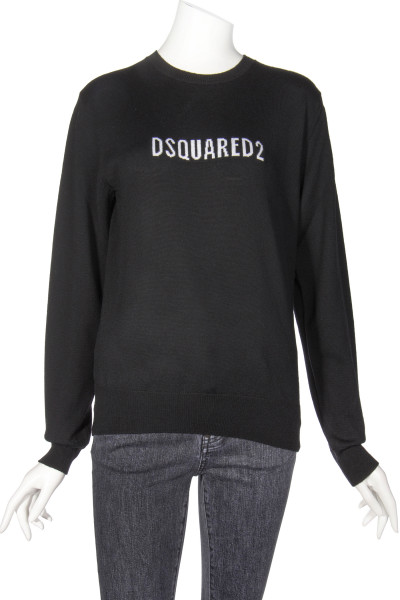 DSQUARED2 Wool Knit Sweater Logo