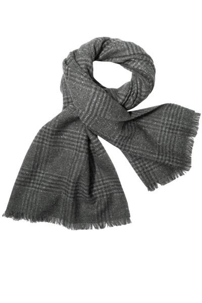 ERMENEGILDO ZEGNA Wool Silk Scarf Checked