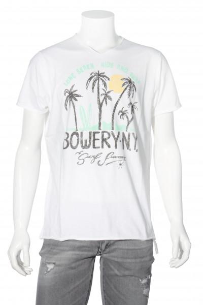 BOWERY Printed T-Shirt Optic White