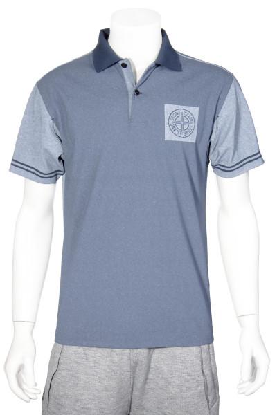 STONE ISLAND Printed Jersey Poloshirt Logo