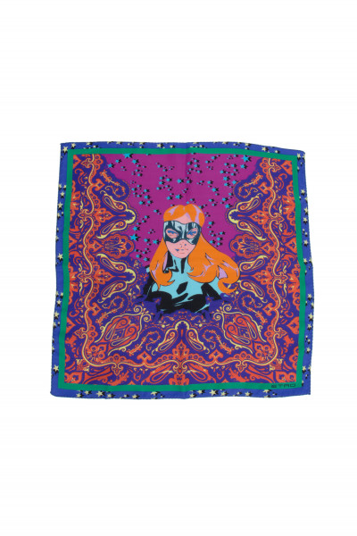 ETRO Pocket Square Superhero Print