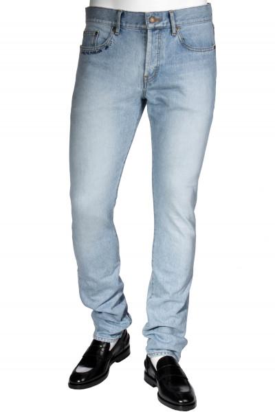 SAINT LAURENT Jeans Skinny Low Waist Embroidery Details