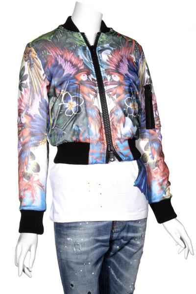 DSQUARED2 Floral Print Bomber Jacket