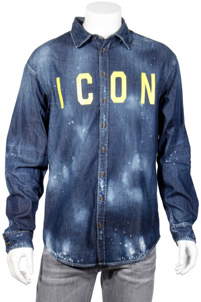 DSQUARED2 Distressed Denim Shirt ICON