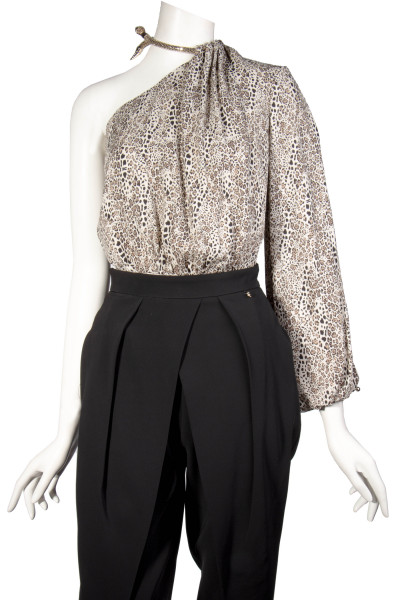 ELISABETTA FRANCHI Off Shoulder Body Animal Print