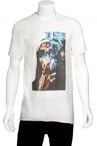 RH45 T-Shirt Blue Smoke Print