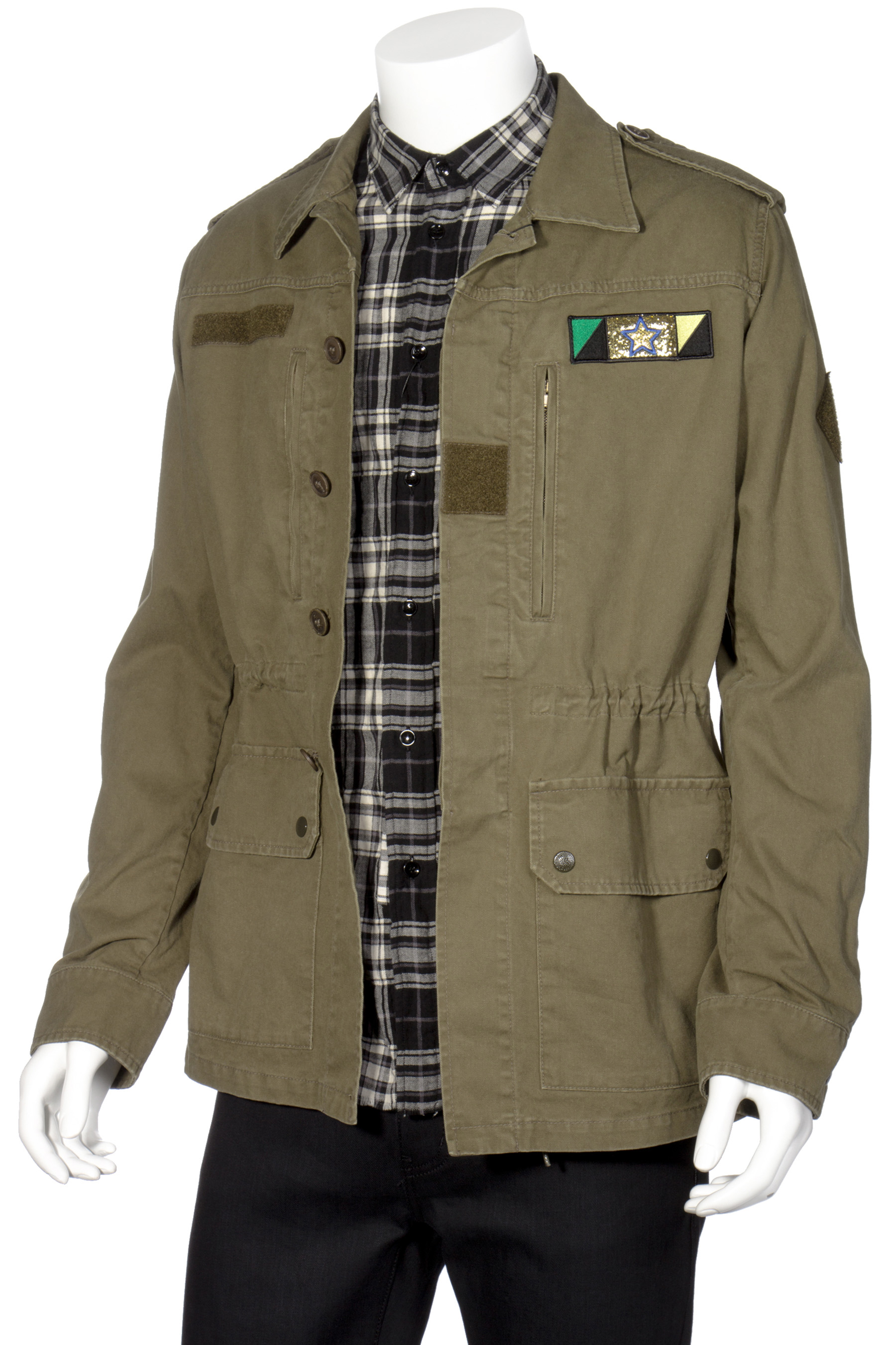 ada20aed49 SAINT LAURENT Military Jacket Sweet Dreams Shark Patch