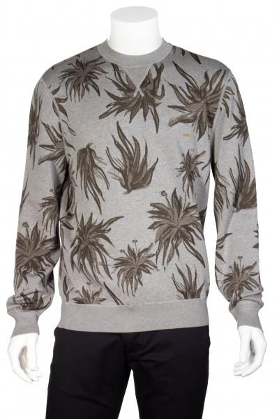 ERMENEGILDO ZEGNA Couture Grey Plant Sweatshirt