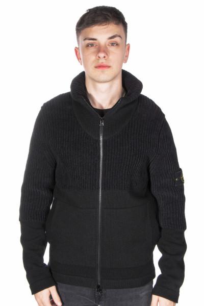 STONE ISLAND Wool Mix Knit Jacket