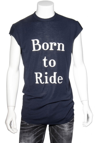 DSQUARED2 Wool T-Shirt Printed Born To Ride