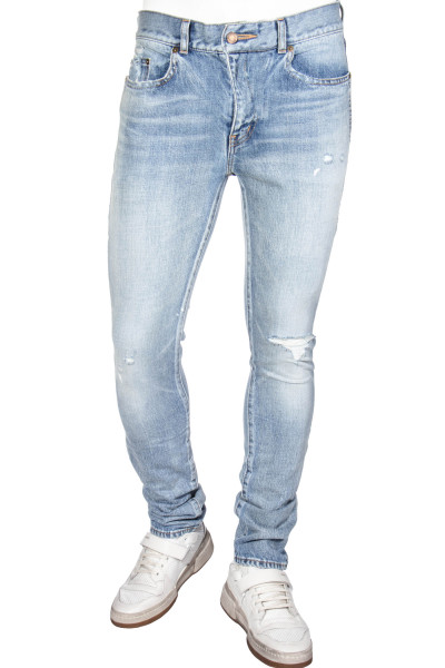 SAINT LAURENT Jeans Skinny Low Waist Distressed Look