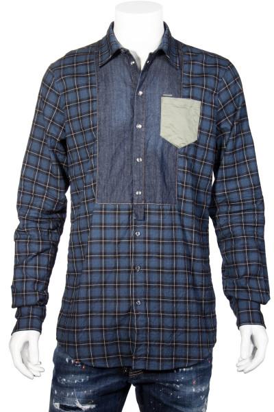 DSQUARED2 Checkered Denim Shirt