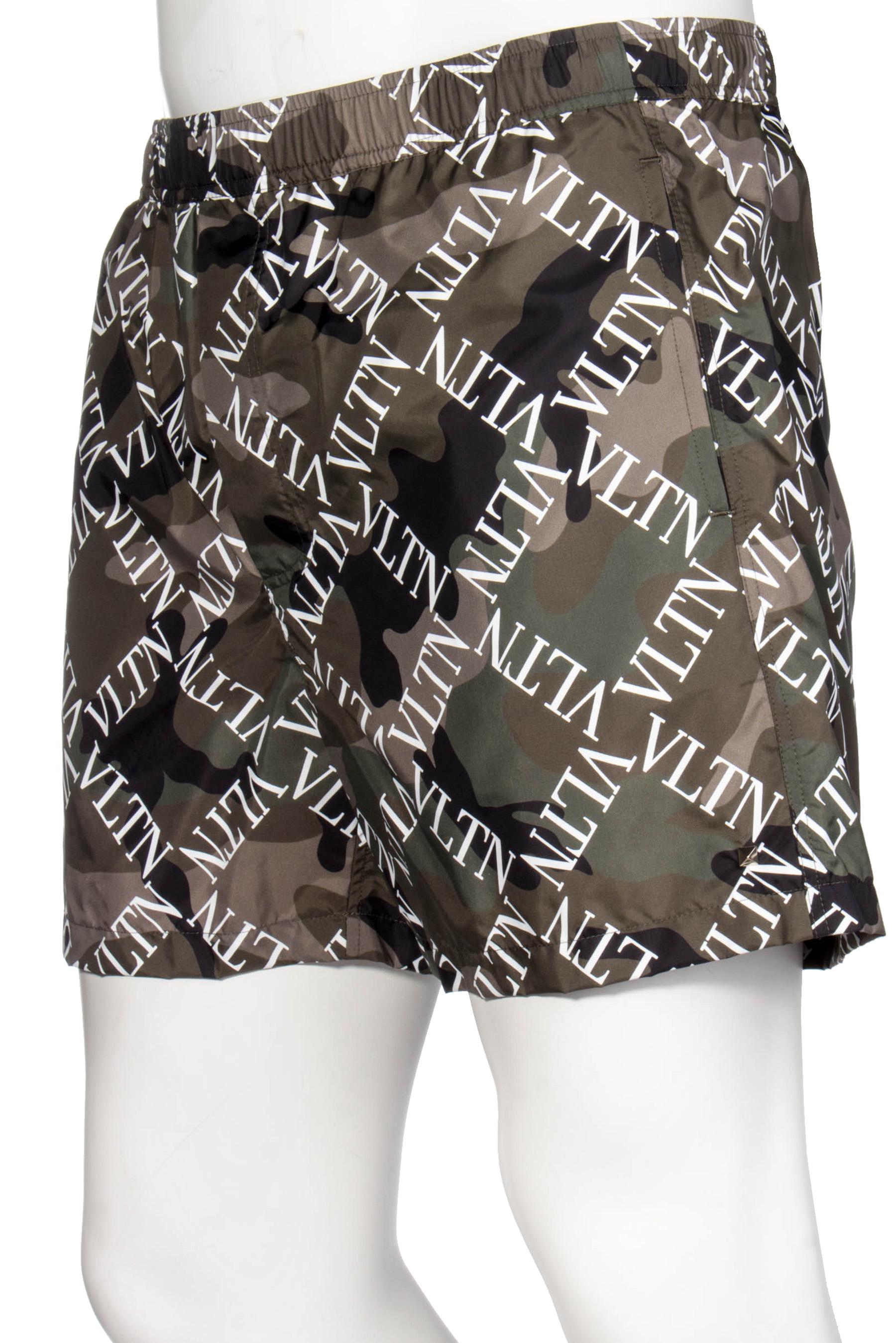 d1ebd0736b ... Preview: VALENTINO Camouflage Swim Shorts VLTN Grid Print ...