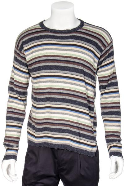 MAISON FLANEUR Multistripe Knit Sweater