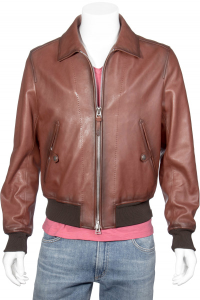 TOM FORD Worked Leather Jacket