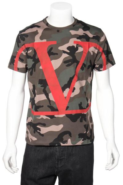VALENTINO Camouflage T-Shirt Maxi Logo