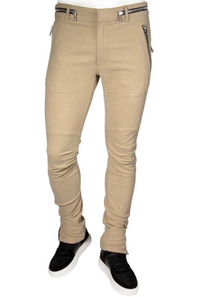 BALMAIN Biker Pants Zip Details