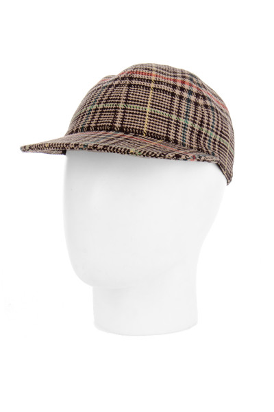 ETRO Checked Wool Mix Cap